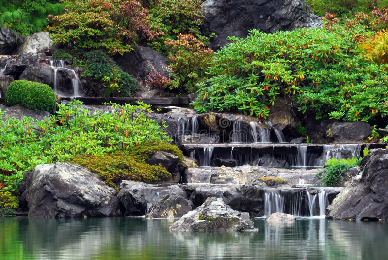vattenfall royaltyfria foton