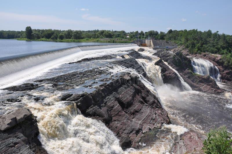 Vattenfall av Charny, Quebec, Kanada arkivfoto