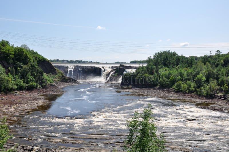 Vattenfall av Charny, Quebec, Kanada arkivbild