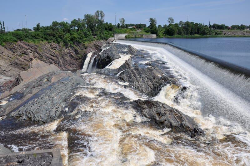 Vattenfall av Charny, Quebec, Kanada arkivfoton