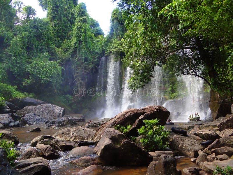 Vattenfall Cambodja arkivbilder