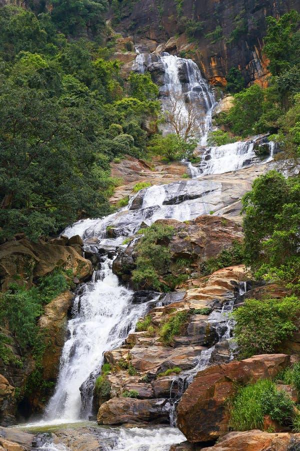 Vattenfall Ella i Sri Lanka arkivbilder