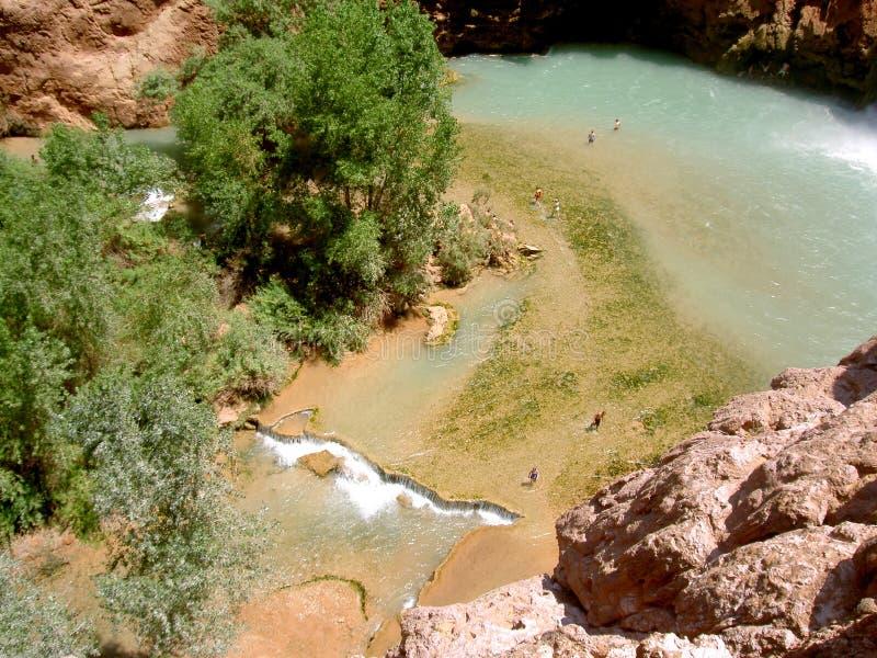 vattenfall för arizona pöl s fotografering för bildbyråer