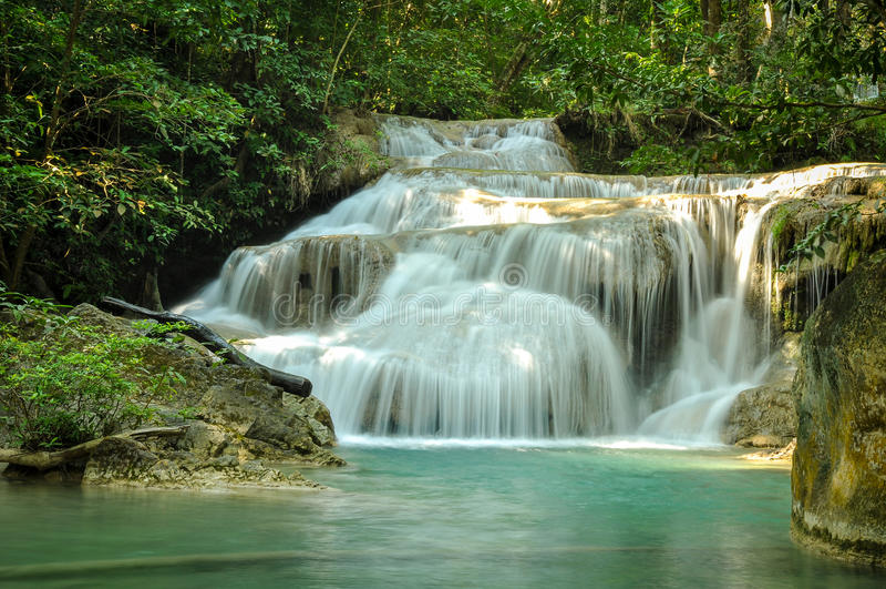 vattenfall för croatia nationalparkplitvice arkivbilder