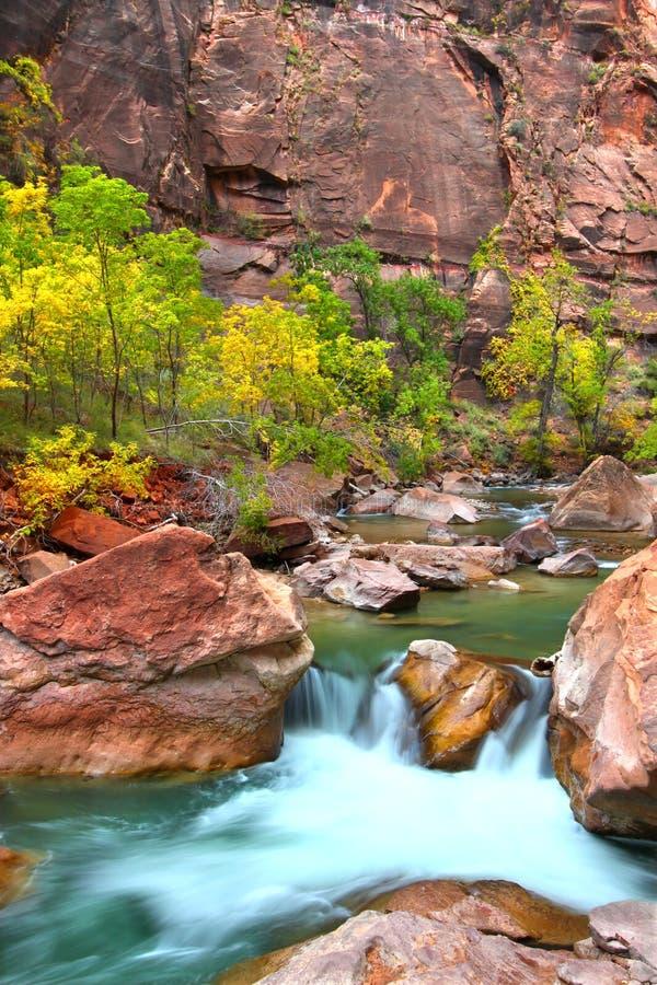 vattenfall för flodutah virign arkivbild