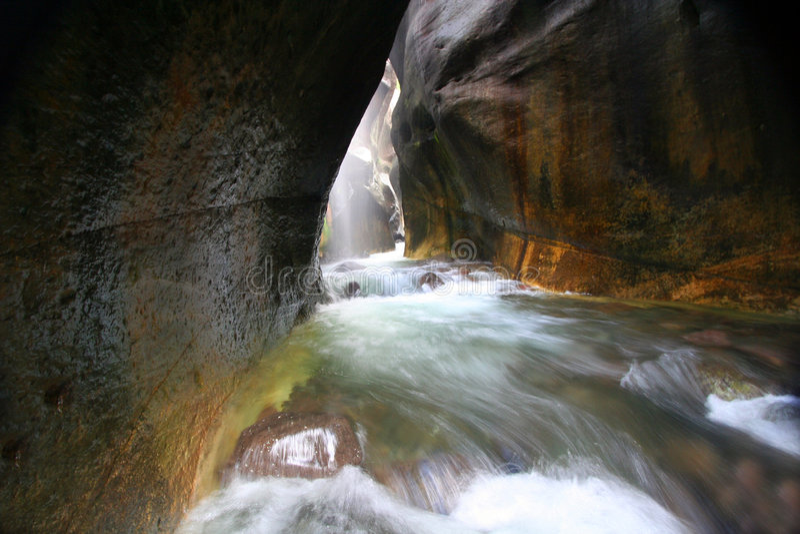 vattenfall för slut s royaltyfri foto