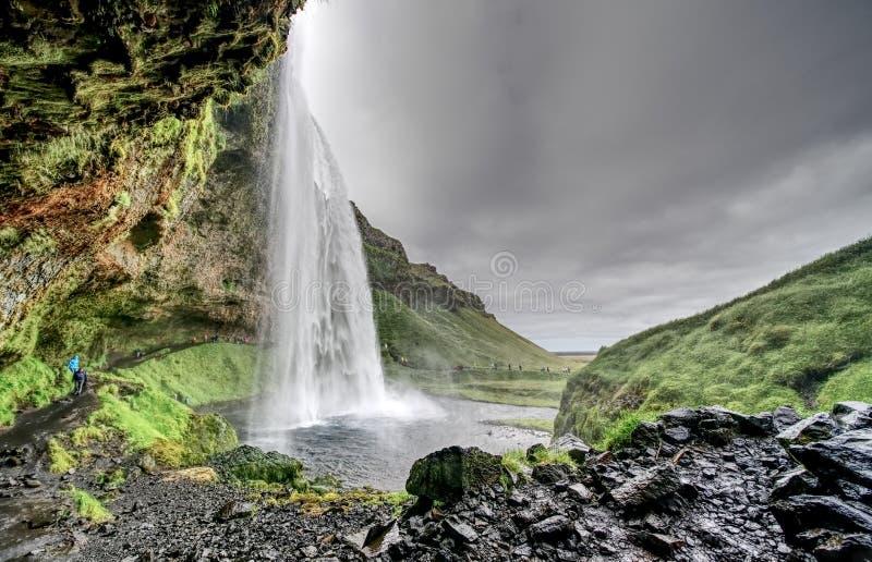 Vattenfall Gullfoss i Island arkivbild