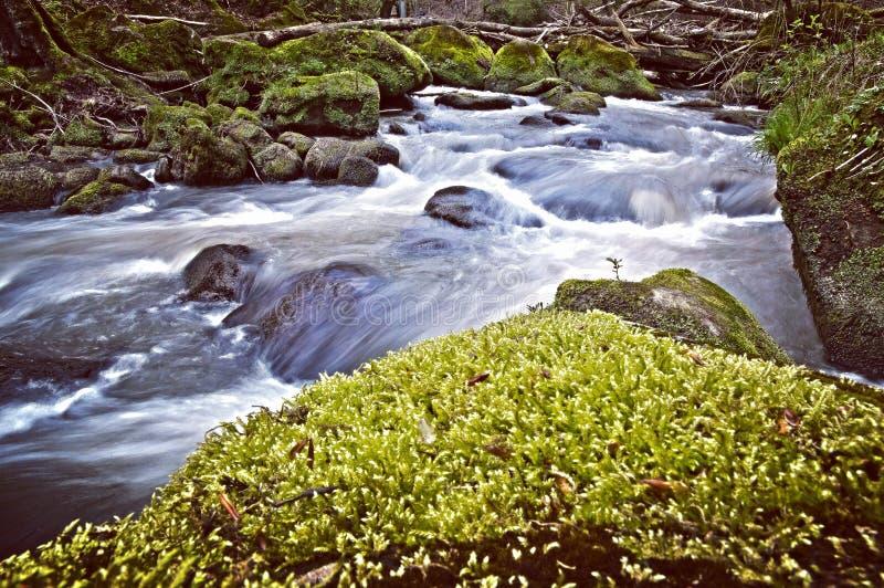 Vattenfall HDR royaltyfria bilder