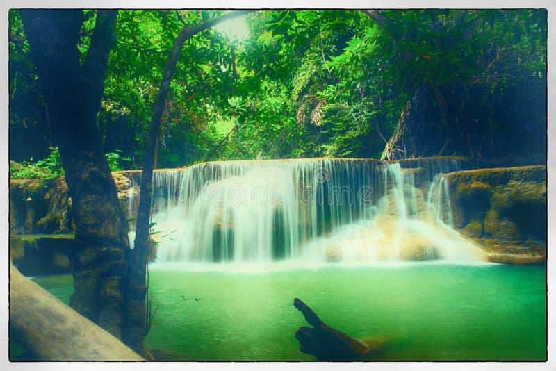 Vattenfall Huay Mae Kamin royaltyfri bild