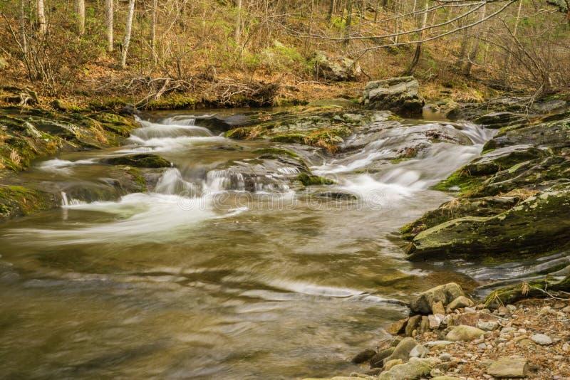 Vattenfall i den blåa Ridge Mountains av Virginia, USA fotografering för bildbyråer