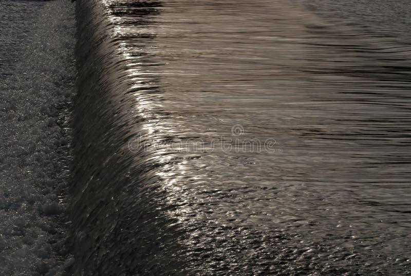 Vattenfall i den Guadalquivir floden fotografering för bildbyråer