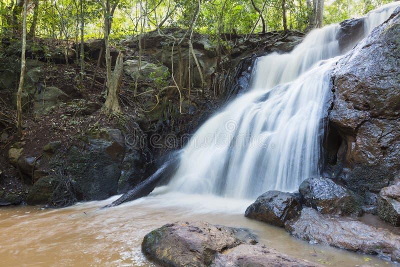 Vattenfall i den Karura skogen, Nairobi, Kenya royaltyfria bilder