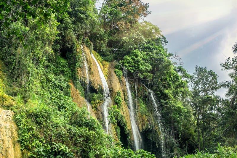 vattenfall i Kuba arkivfoto
