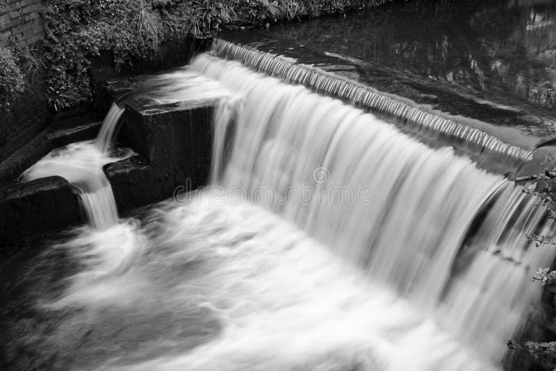 Vattenfall i Lyme regis arkivbild