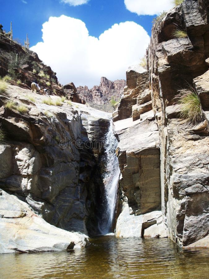 Vattenfall i tucson, Arizona royaltyfri fotografi