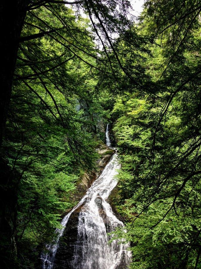 Vattenfall i Vermont royaltyfri fotografi