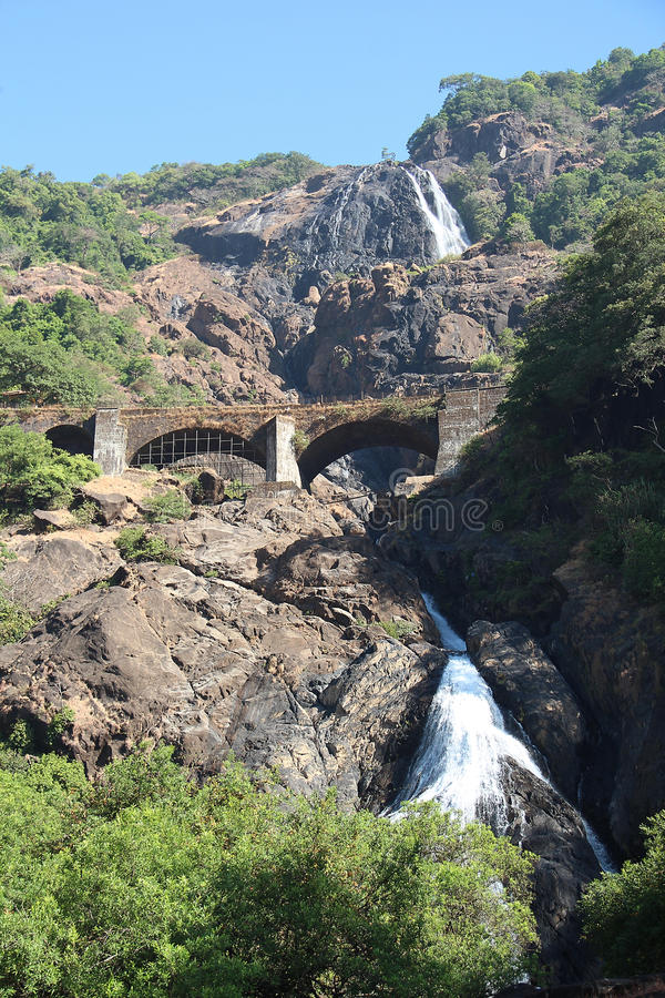 Vattenfall Indien royaltyfria bilder