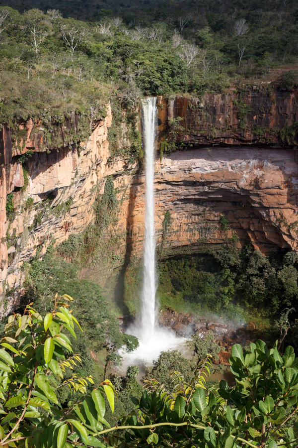 Vattenfall på Cahpada DOS Guimarães arkivbild