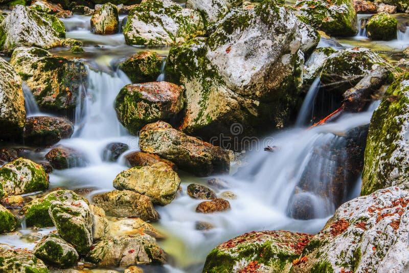 Vattenfall Savica, Slovenien arkivfoto