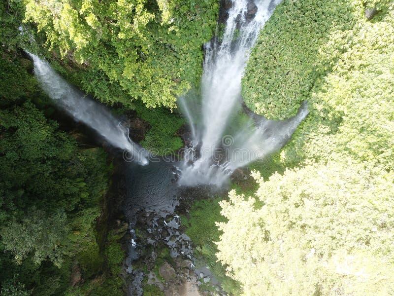 Vattenfall Sekumpul i Bali arkivbild