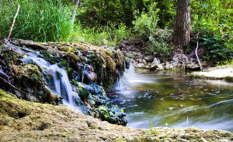 Vattenfall Sicilien royaltyfria foton
