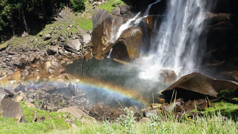 vattenfall yosemite royaltyfria bilder