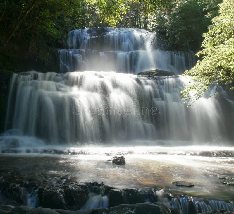 vattenfall zealand för ny purakaunui för park för catlinsskogö södra arkivfoto