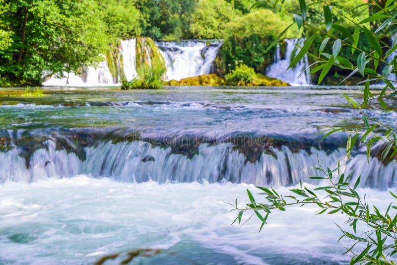 Vattenfallen av Slunj royaltyfria foton
