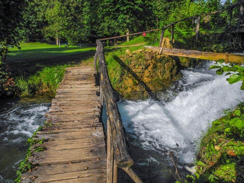 Vattenfallen av Slunj royaltyfria bilder