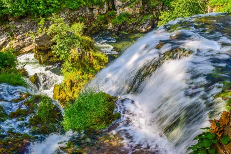 Vattenfallen av Slunj arkivbild