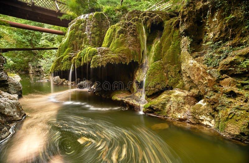 Vattenfallet landskap arkivbilder