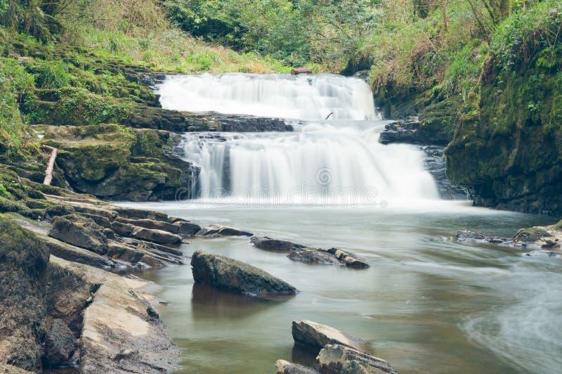 Vattenfallet landskap fotografering för bildbyråer