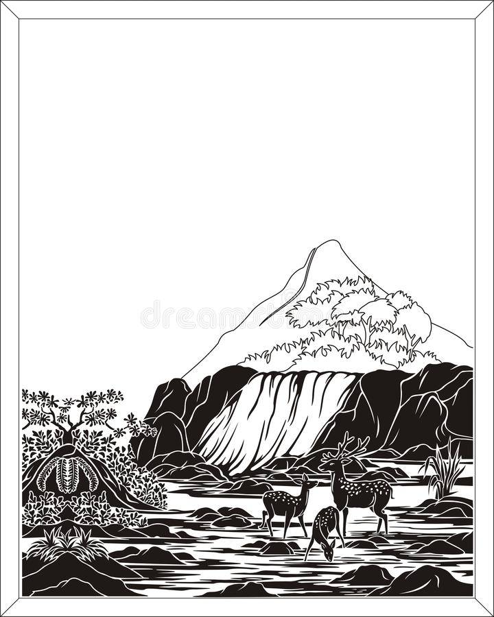 vattenfall royaltyfri illustrationer