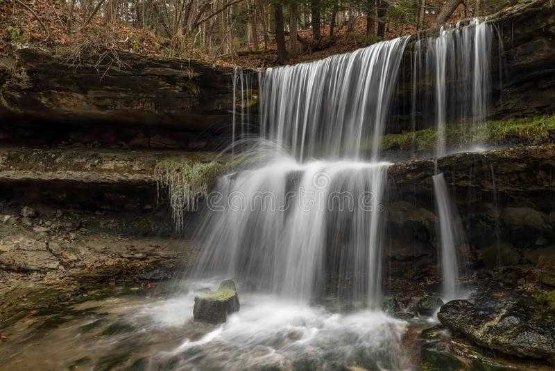 Vattenfallet på Oglebay - rulla, West Virginia royaltyfri fotografi