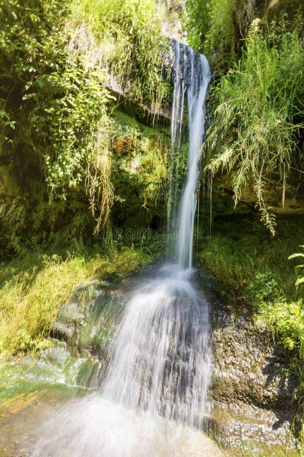 Vattenfallfröskida Kamiko i den Iskarsko klyftan, Bulgarien royaltyfri foto