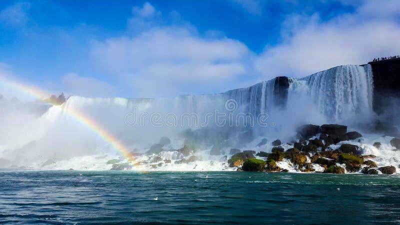 Vattenfallregnbågen landskap Niagara Falls, Toronto royaltyfria bilder