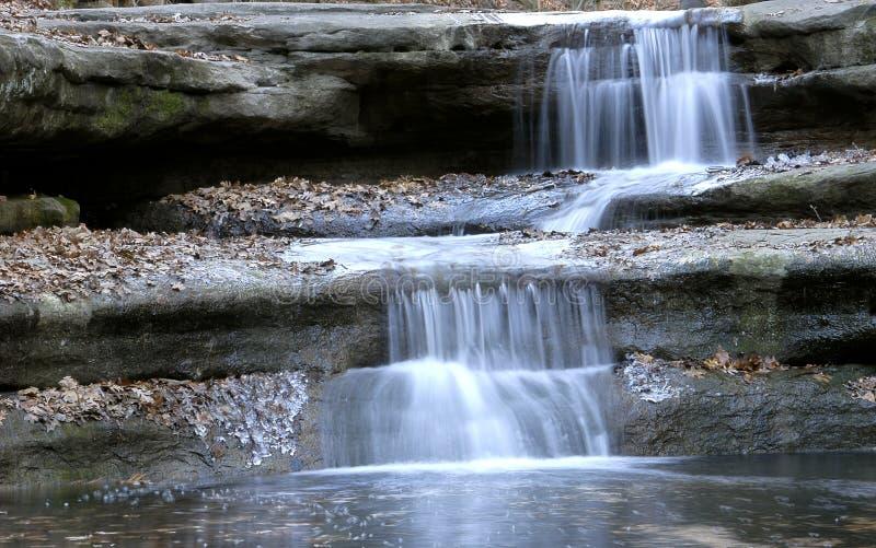 vattenfallvinter royaltyfri foto