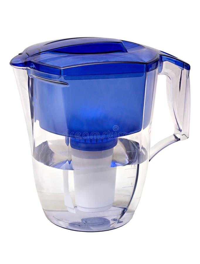 Vattenfilter i form av en plast- tillbringare royaltyfria foton