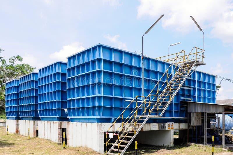 Vattenfiltreringväxt arkivbilder