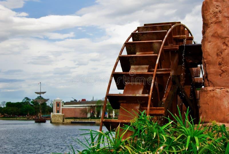 vattenhjul royaltyfri fotografi