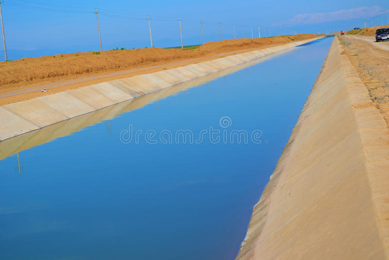 Vattenkanal för bevattning royaltyfria foton