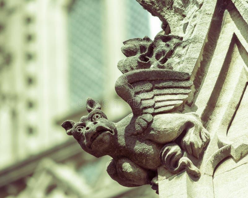 Vattenkastare D på St Mary Redcliffe Church Bristol royaltyfri fotografi