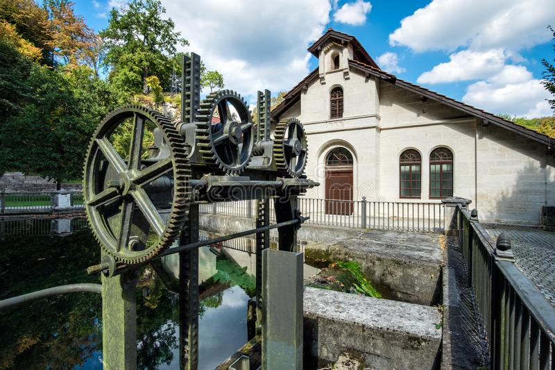 Vattenkraftstation Koenigsbronn arkivbild