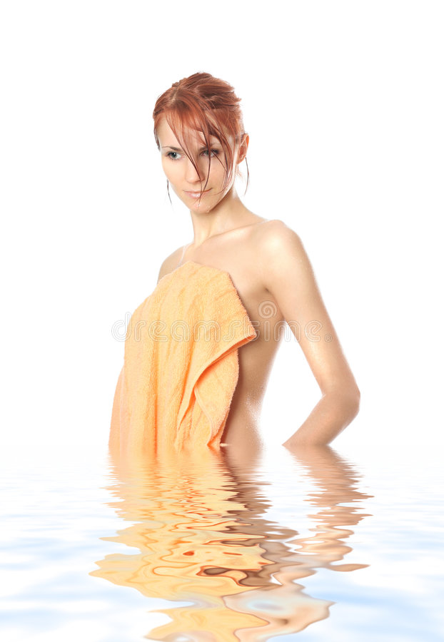 vattenkvinna royaltyfri fotografi