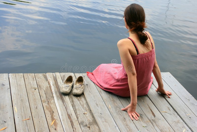 vattenkvinnor royaltyfri bild