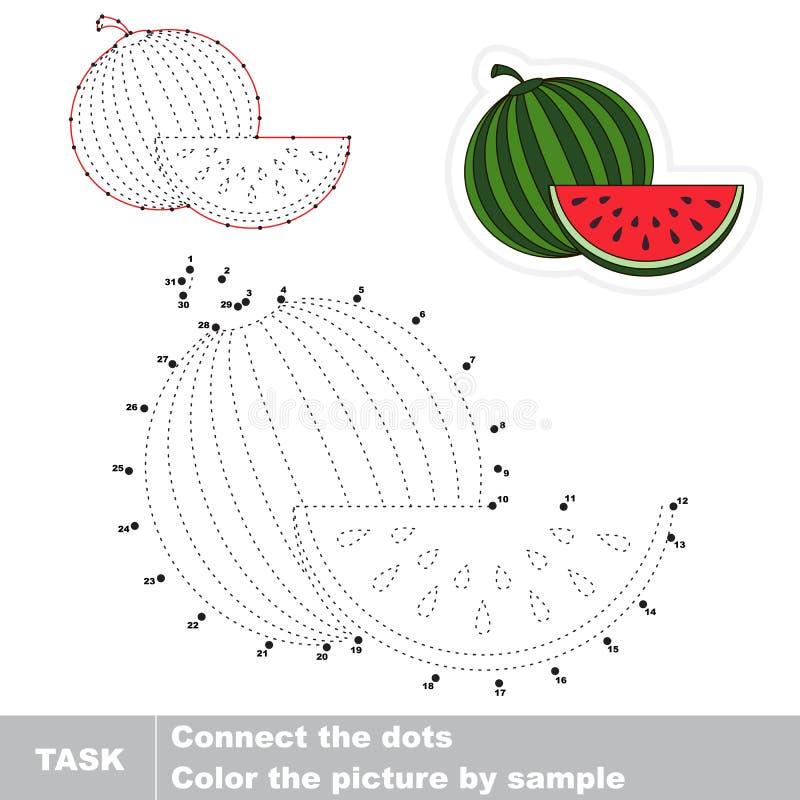 Vattenmelon för nummerlek royaltyfri illustrationer