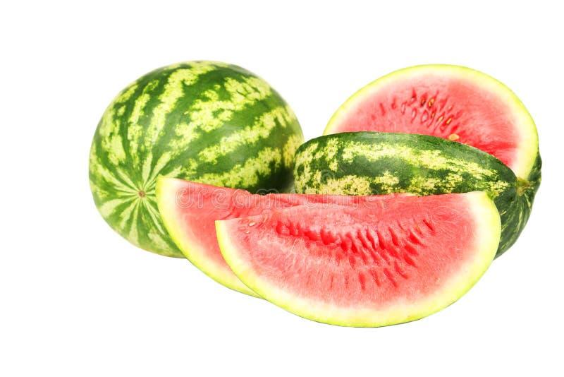 Vattenmelon som isoleras på en vit royaltyfri fotografi
