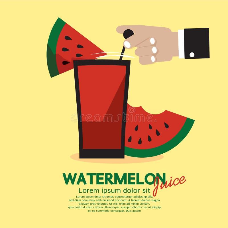 Vattenmelonfruktsaft royaltyfri illustrationer