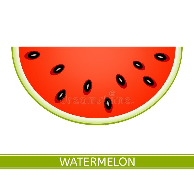 Vattenmelonskivasymbol stock illustrationer
