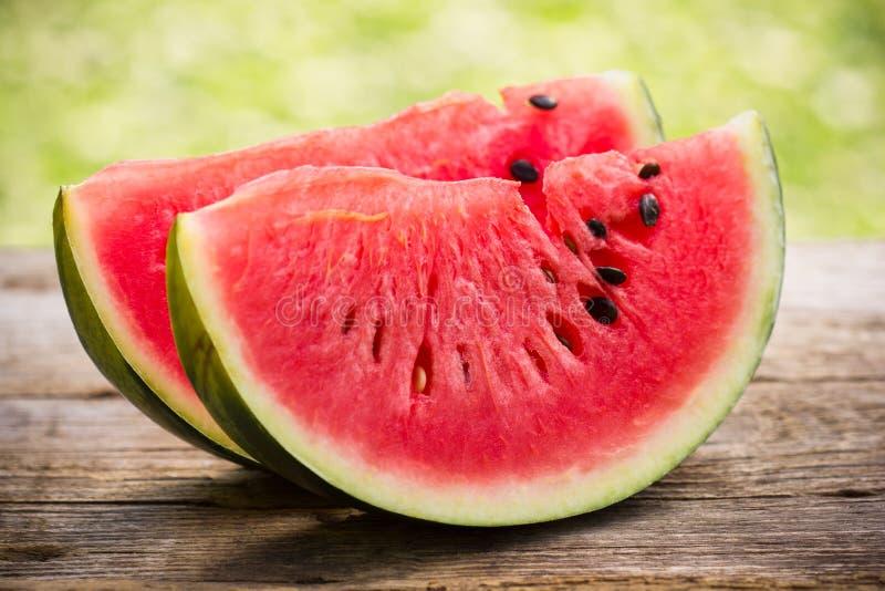 Vattenmelonskivor royaltyfri fotografi